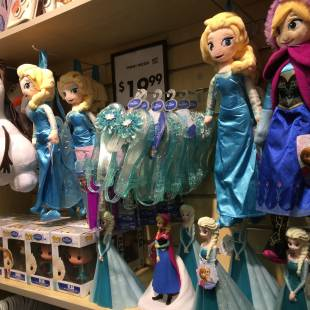 Store Shelves Snowed Under with Frozen Merchandise