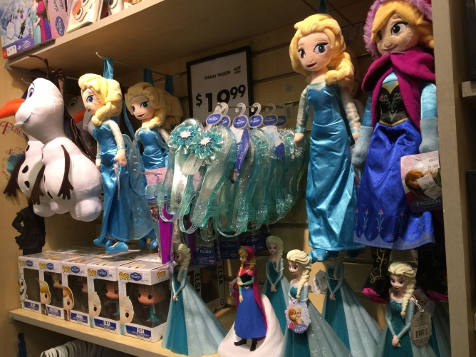 Picture from Store Shelves Snowed Under with Frozen Merchandise
