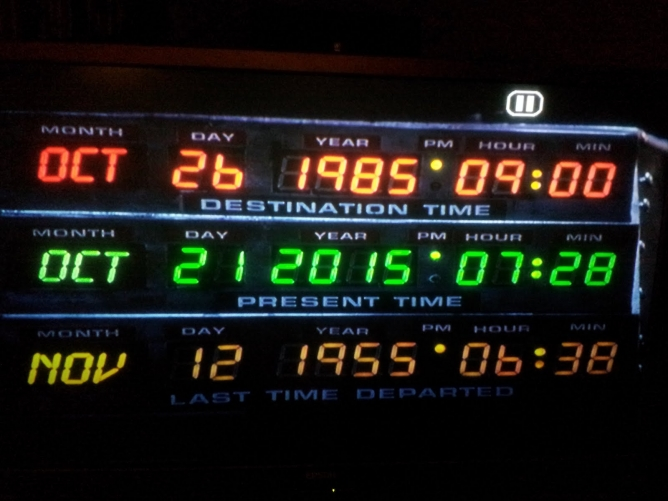 Picture from Back to the Future Day