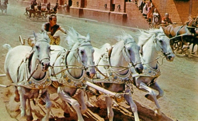 Picture from Huston to Replace Heston in New Ben-Hur Movie