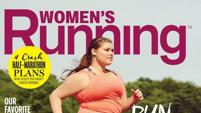 Picture from Women's Running Mag Features Plus-Size Model