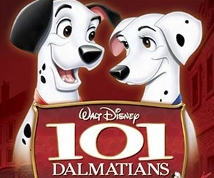 Still shot from the movie: 101 Dalmatians (1961).