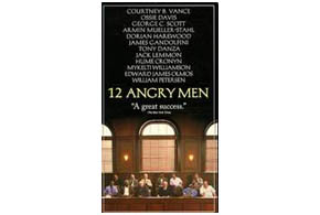 Still shot from the movie: 12 Angry Men (1997).