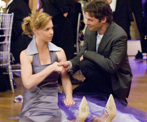 Still shot from the movie: 27 Dresses.