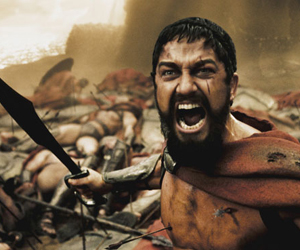 Still shot from the movie: 300.