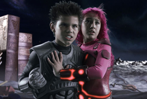 Still shot from the movie: The Adventures of Shark Boy and Lava Girl in 3-D.