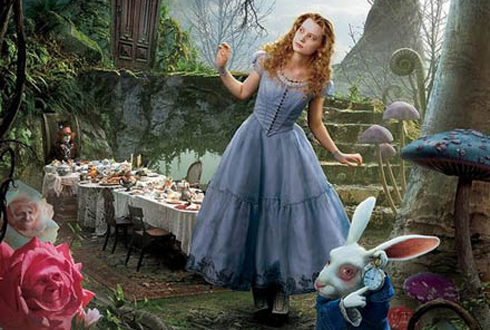 Still shot from the movie: Alice In Wonderland.