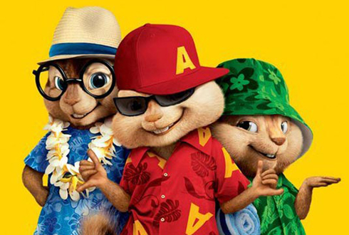 Still shot from the movie: Alvin and the Chipmunks: Chipwrecked.