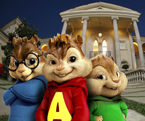 Still shot from the movie: Alvin and the Chipmunks.