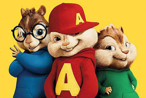 Still shot from the movie: Alvin and the Chipmunks: The Squeakquel.