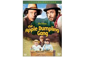 Still shot from the movie: The Apple Dumpling Gang.