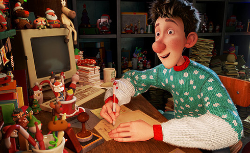 Still shot from the movie: Arthur Christmas.