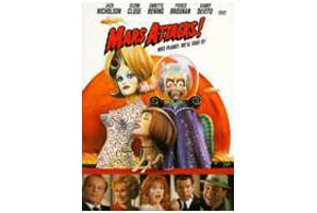 Still shot from the movie: Mars Attacks.