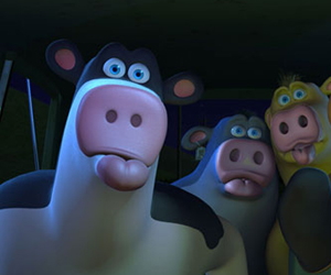 Still shot from the movie: Barnyard: The Original Party Animals.