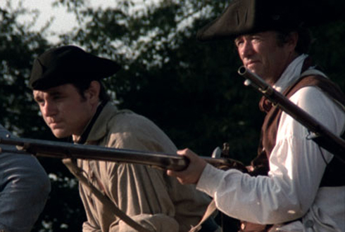 Still shot from the movie: The Battle of Bunker Hill.