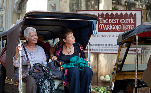Still shot from the movie: The Best Exotic Marigold Hotel.