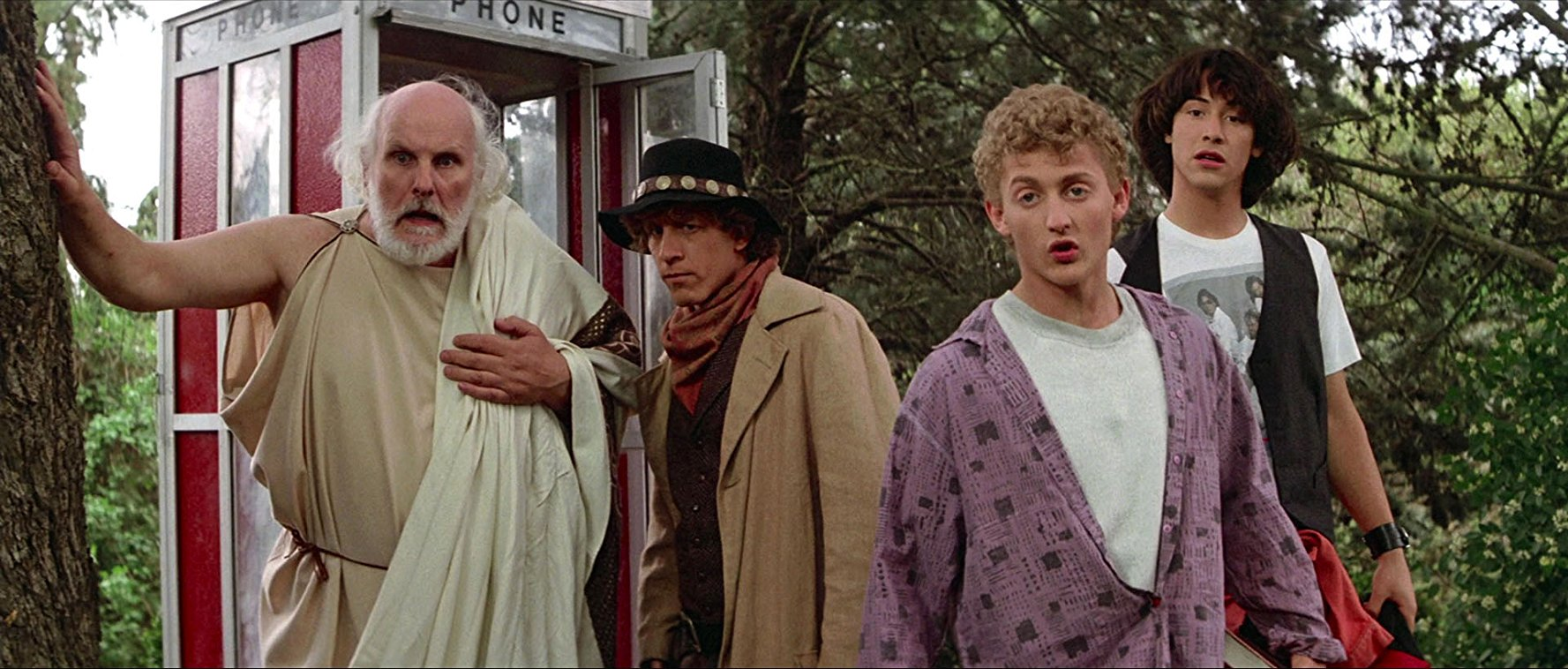 Still shot from the movie: Bill & Ted's Excellent Adventure.