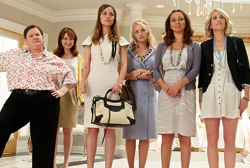 Still shot from the movie: Bridesmaids.