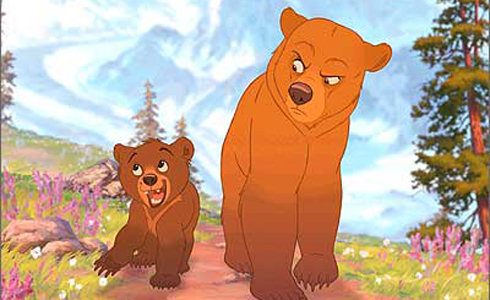 Still shot from the movie: Brother Bear.