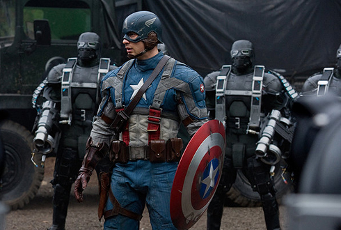 Still shot from the movie: Captain America: The First Avenger.