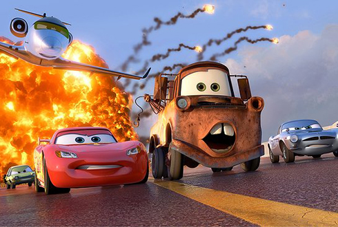 Still shot from the movie: Cars 2.
