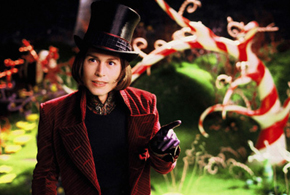 Still shot from the movie: Charlie and the Chocolate Factory.