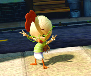 Still shot from the movie: Chicken Little.