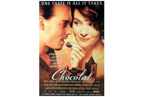 Still shot from the movie: Chocolat.