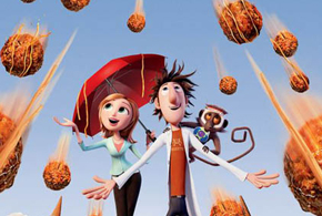 Still shot from the movie: Cloudy With a Chance of Meatballs.