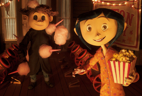 Still shot from the movie: Coraline.