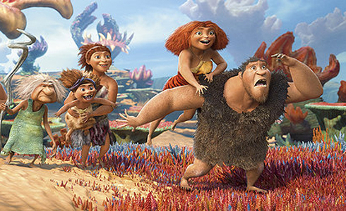 Still shot from the movie: The Croods.