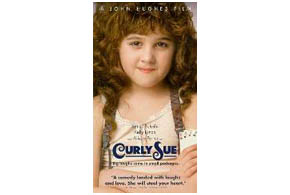 Still shot from the movie: Curly Sue.