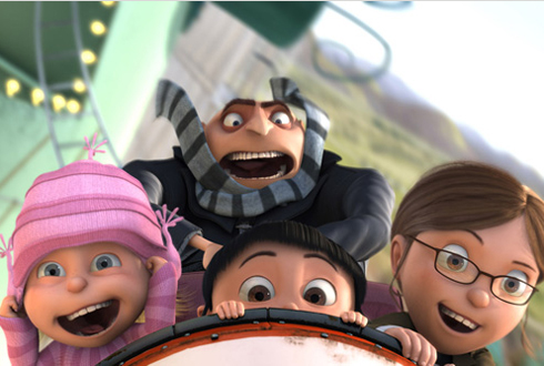 Still shot from the movie: Despicable Me.
