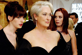Still shot from the movie: The Devil Wears Prada.