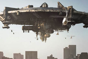 Still shot from the movie: District 9.
