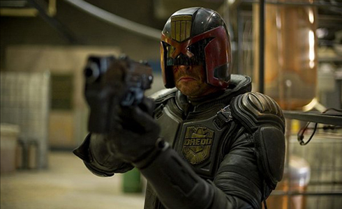 Still shot from the movie: Dredd.