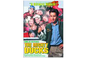 Still shot from the movie: The Mighty Ducks.