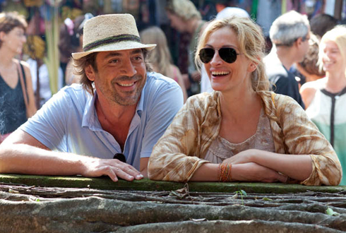 Still shot from the movie: Eat Pray Love.