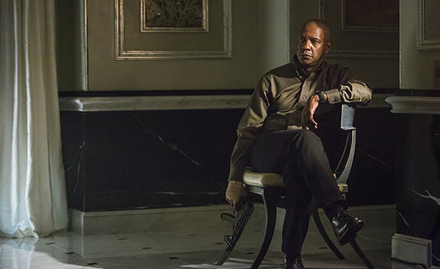 Still shot from the movie: The Equalizer.