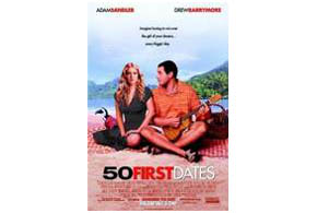 Still shot from the movie: 50 First Dates (2004).