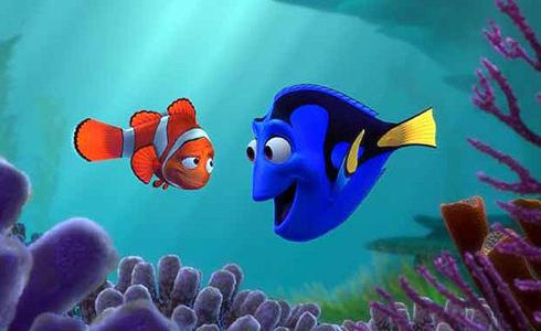 Still shot from the movie: Finding Nemo.