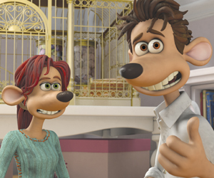 Still shot from the movie: Flushed Away.