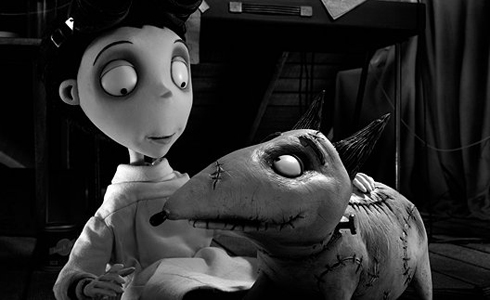 Still shot from the movie: Frankenweenie.