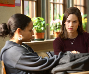 Still shot from the movie: Freedom Writers.