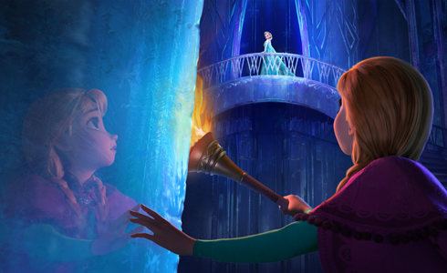 Still shot from the movie: Frozen.