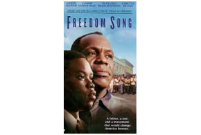 Still shot from the movie: Freedom Song.