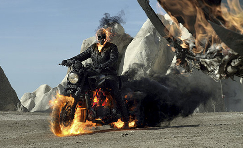 Still shot from the movie: Ghost Rider: Spirit of Vengeance.