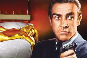Still shot from the movie: Goldfinger.