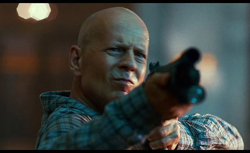 Still shot from the movie: A Good Day to Die Hard.