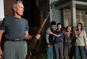 Still shot from the movie: Gran Torino.